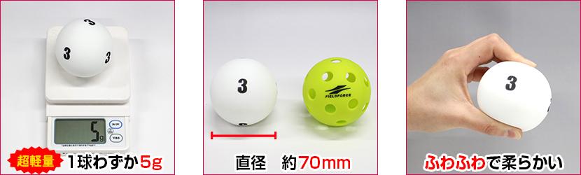 『1球わずか5g』『直径約70mm』『ふわふわで柔らかい』