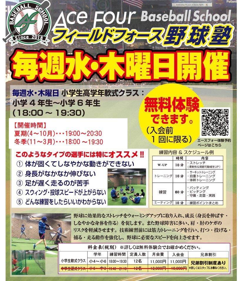 フィールドフォース野球塾エースフォー