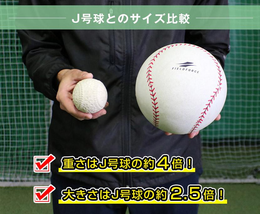 J号球とのサイズ比較