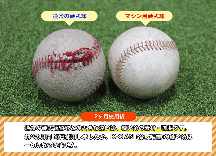 【オンラインショップ限定品】通常の硬式練習球との大きな違いは、縫い糸の素材・強度